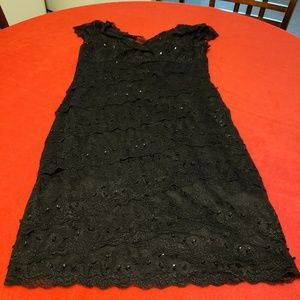 Blu Sage Black Lace Dress sz 12P